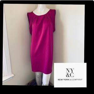 NY&CO Hot Pink shift dress size Small